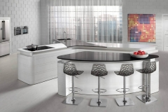 Levantina Cocina Caesarstone Fair Lady And Black Knight